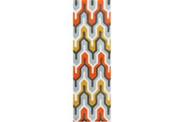 30X96 Rug-Marsha Poppy/Grey/Gold