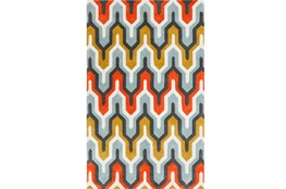 42X66 Rug-Marsha Poppy/Grey/Gold