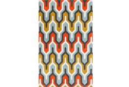 60X96 Rug-Marsha Poppy/Grey/Gold