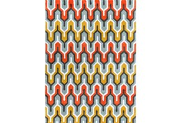 96X132 Rug-Marsha Poppy/Grey/Gold