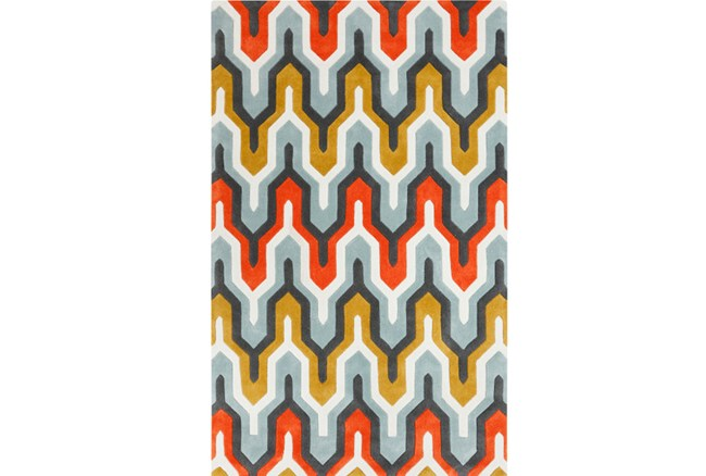 108X156 Rug-Marsha Poppy/Grey/Gold - 360
