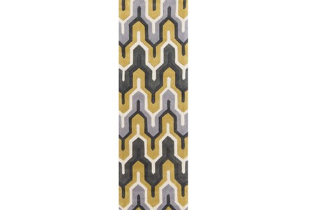 30X96 Rug-Marsha Gold/Charcoal