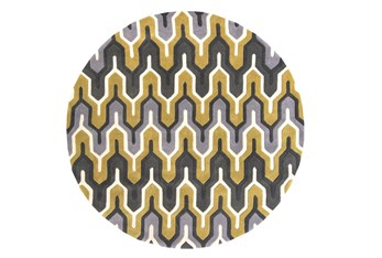 8' Round Rug-Marsha Gold/Charcoal