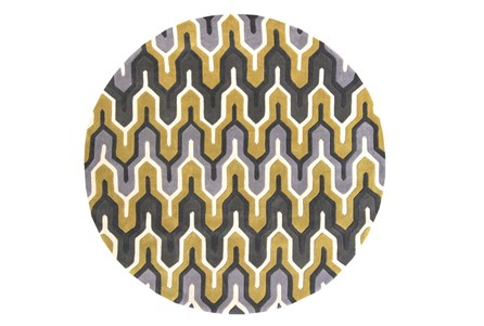 96 Inch Round Rug-Marsha Gold/Charcoal