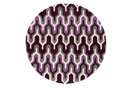 96 Inch Round Rug-Marsha Eggplant