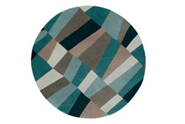 8' Round Rug-Trixie Teal