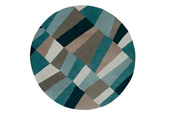 96 Inch Round Rug-Trixie Teal