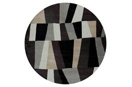 96 Inch Round Rug-Trixie Grey