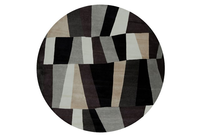 96 Inch Round Rug-Trixie Grey - 360