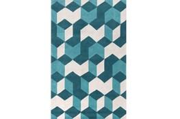 60X96 Rug-Crinkle Teal