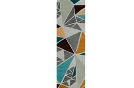 30X96 Rug-Trinity Grey/Gold/Teal