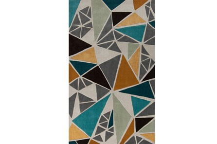 60X96 Rug-Trinity Grey/Gold/Teal