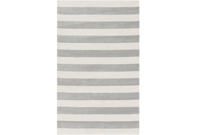 60X96 Rug-Rugby Light Grey/White - 360