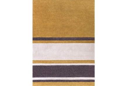 96X132 Rug-Benjamin Stripe Gold/Charcoal