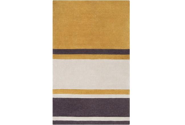 108X156 Rug-Benjamin Stripe Gold/Charcoal - 360