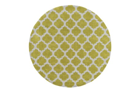 96 Inch Round Rug-Ariel Lime
