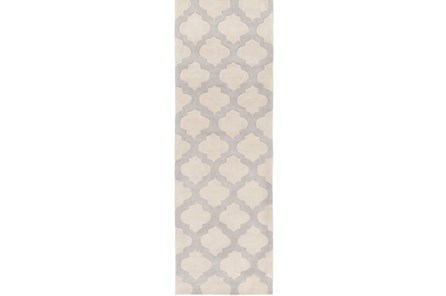 30X96 Rug-Ariel Light Grey