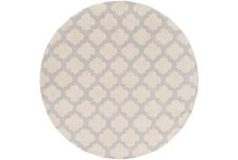 96 Inch Round Rug-Ariel Light Grey