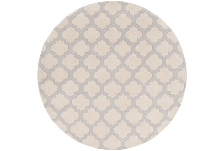 96 Inch Round Rug-Ariel Light Grey