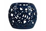 Geo Cutwork Vase Blue - Signature