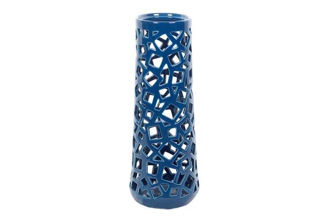 Geo Cutwork Turquoise Vase Large Living Spaces