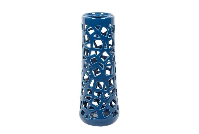 Geo Cutwork Turquoise Vase Medium - 360