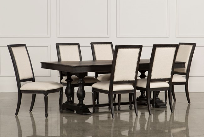 Chapleau 7 Piece Extension Dining Set W/Side Chairs - 360