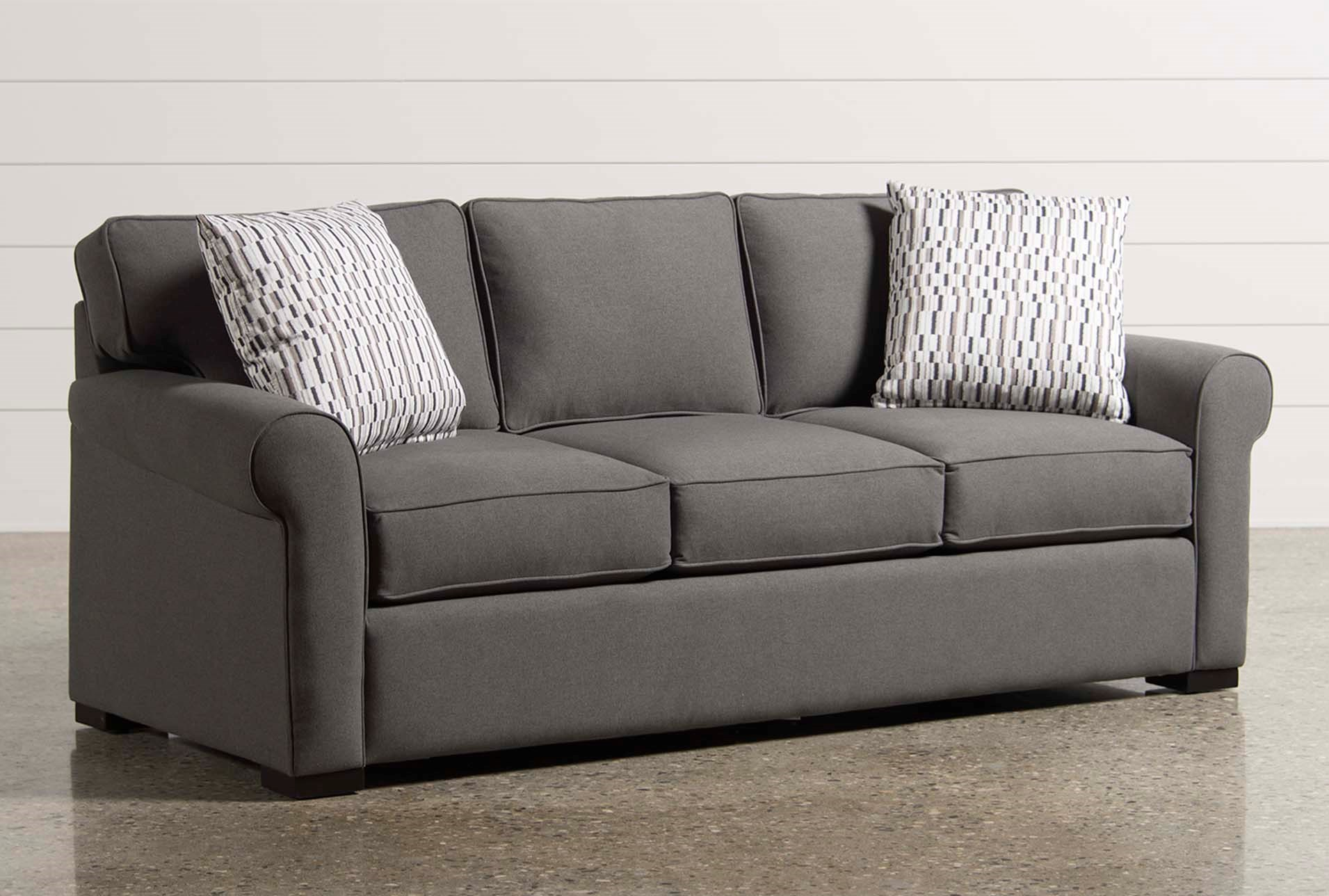 Mia Memory Foam Queen Sleeper Living Spaces ~ Queen Sleeper Sofa Dimensions When Open