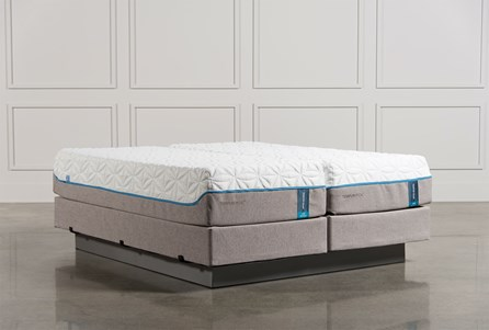 Tempur-Pedic Cloud Luxe Cal King Split Mattress Set W/Foundation