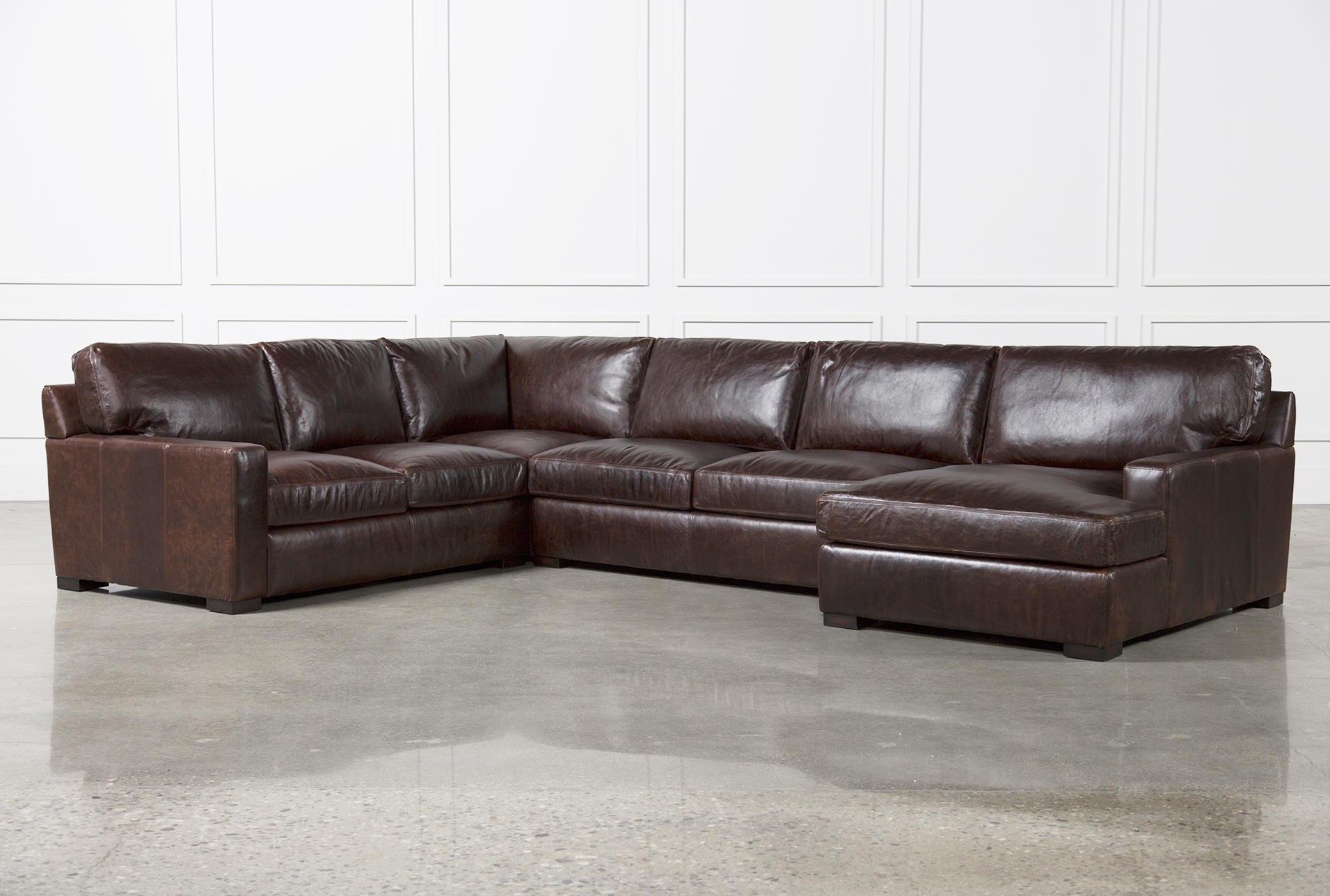 gordon 3 piece sectional w raf chaise living spaces rh livingspaces com leather sectional sofa bed leather sectional sofa clearance