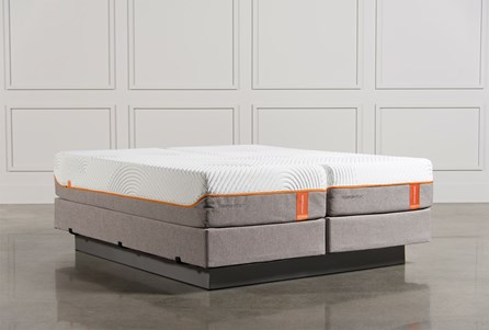 Tempur-Pedic Contour Rhapsody Luxe Cal King Split Mattress Set W/Foundation