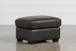 Andrew Leather Ottoman