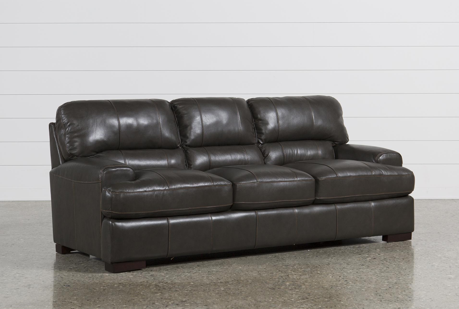 Merveilleux Andrew Leather Sofa   360
