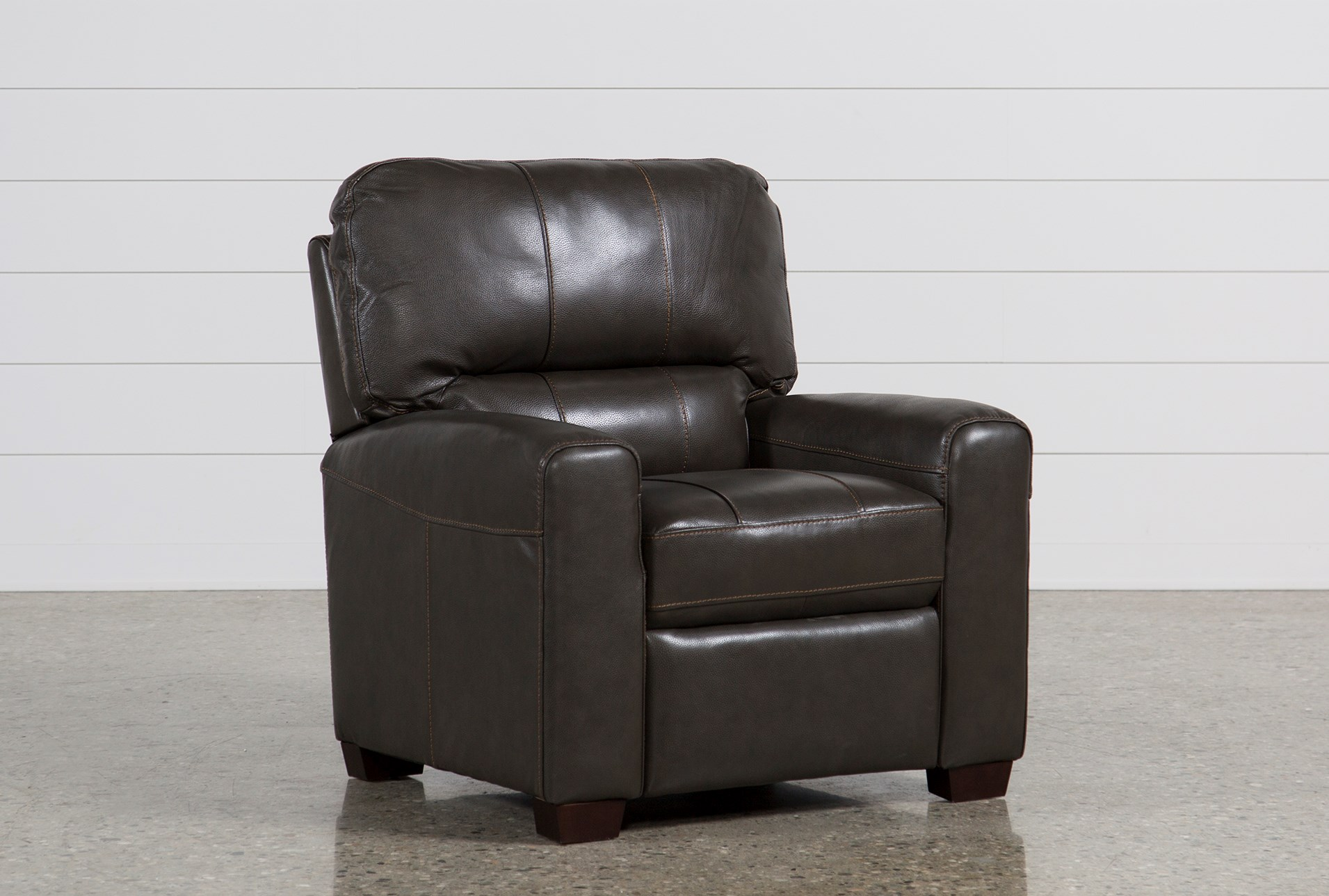 Famous Andrew Leather Recliner | Living Spaces FR38