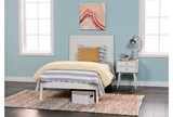 Alton White Twin Platform Bed - Room