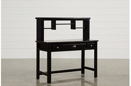 "Summit Black 48"" Desk/Hutch"