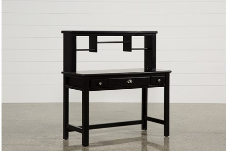 Summit Black Desk/Hutch - Main