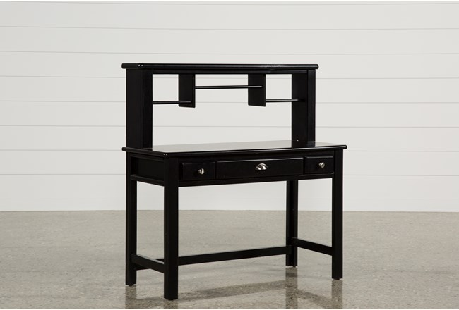 Summit Black Desk Hutch 360