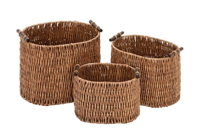 3 Piece Set Rattan Baskets - 360