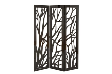 Panel Dark Brown Tree Floor Screen - Main