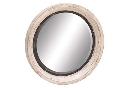 Mirror-White Wash Circle 35X35