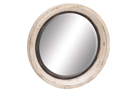 Mirror-White Wash Circle 35X35 - Main