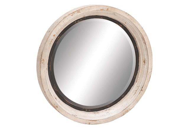 Mirror-White Wash Circle 35X35 - 360