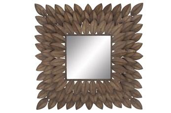 Mirror-Metal Leaf Square 30X30