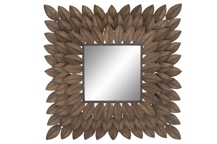 Mirror-Metal Leaf Square 30X30
