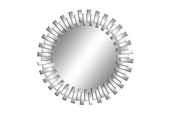 Mirror-Silver Sunburst 42X42