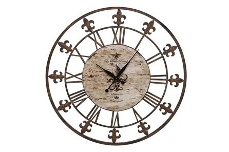 36 Inch Fleur De Lis Clock