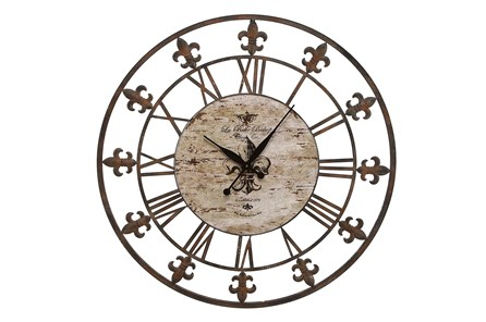 36 Inch Fleur De Lis Clock - Main