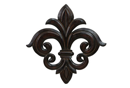 24 Inch Dark Brown Fleur Wall Decor