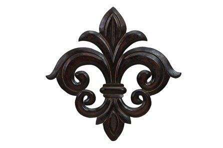 24 Inch Dark Brown Fleur Wall Decor - Main
